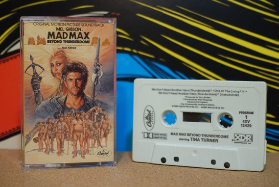 Mad Max Beyond Thunderdome (Original Motion Picture Soundtrack) by Various Artists Vintage Cassette Tape