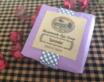 Lavender Lye Soap Homemade Homestead Farm Essential Oil