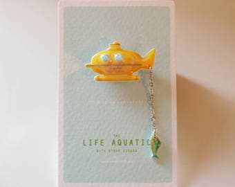 Jacqueline Deep Search Pin / Brooch - The Life Aquatic with Steve Zissou / Wes Anderson Pin / Jewerly / Submarine Pin / CHRISTMAS IN JULY