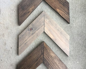 Wall Art 3 Piece Chevron, Rustic Unique Home Décor, Wooden , Wooden Chevron, Hanging Wood Arrow
