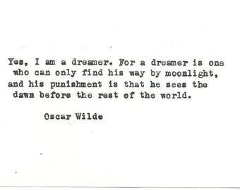 Oscar Wilde Hand typed vintage typewriter quote