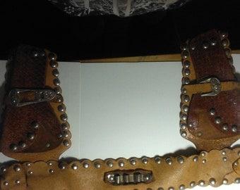 Vintage leather cap gun holster