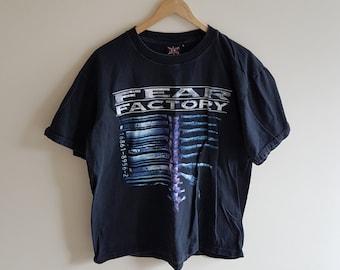 Vintage 90s fear factory t shirt, 90s t shirt, 90s fear factory, demanufacture
