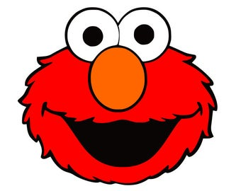 Elmo SVG, sesame street svg, cartoon sign, cricut silhouette cutting file, dxf, eps, png, download