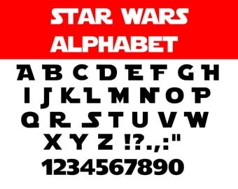 Star wars font svg, Star wars svg, Star wars alphabet svg, Star wars letters, cartoon svg, dxf, cricut, silhouette cutting file