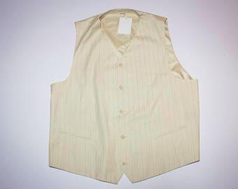 Vintage white waistcoat vest size XL
