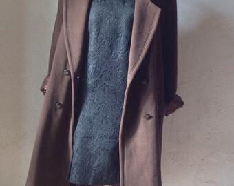 Made in Italy   Vintage coat by Anna Castellaro   Wool Coat   Vintage Coat   90s Coat   Brown Coat   wooled Coat   Oversize Coat  