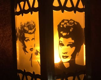 I love Lucy Inspired Battery-Operated Plastic Mini Lanterns (Gold)
