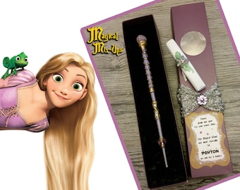 Tangled Up Magic Wand -- MADE TO ORDER (Harry Potter, Rapunzel, Purple, Gold, Cosplay, Halloween, Disney)