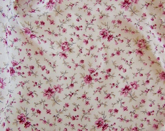 Crepe georgette SMALL FLOWERS ROSES 100% viscose