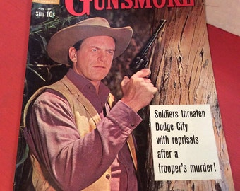 Vintage Comic Book-1960 Gunsmoke No. 22-Dell Comics, James Arness