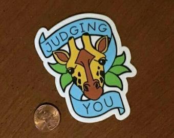 Judgy Geoffrey Giraffe - Vinyl Sticker