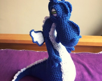 Handmade Crochet Dragon