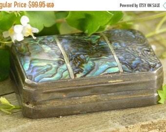 On Sale Abalone Small Keepsake Box Sterling Silver 17.2g