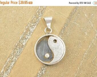 On Sale Dimensional Spiritual Yin Yang Symbol Pendant Sterling Silver 11.7g