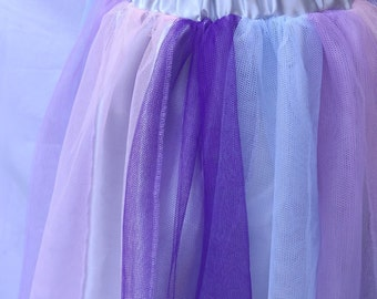 Tutu goth Unicorn skirt cyber pastel club scene multicolored rainbow handmade
