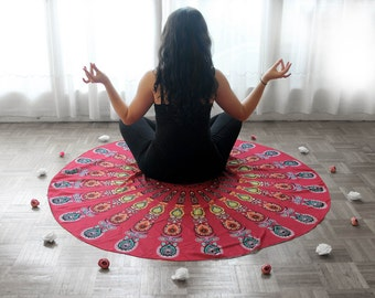Roundie sheet round Mandala Bohemian Beach Yoga meditation sarong picnic