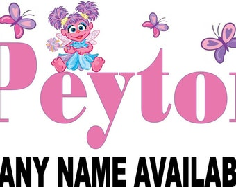 Abby Cadabby Personalized Name Iron on Transfer