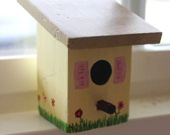 Hand Painted Miniature Birdhouse