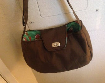 Brown Purse with Fox Interior