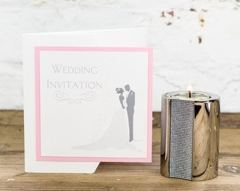 Bride & Groom Pocketfold Wedding Invitation