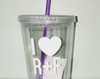 R+F Tumblers with Straw