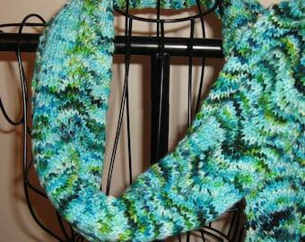 Aquaterra Extra Long Handknit Merino Wool Scarf