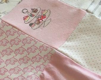 Bespoke keepsake patchwork baby blanket
