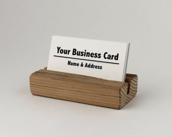 Wood business card holder Etsy