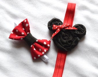 Minnie Mouse Hair Bows - Set of Two
