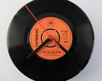 "Fleetwood Mac - 'Need Your Love So Bad' 7"" Record Clock"
