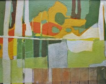 Framed art, Original art, Ready to hang, mixed media, collage, Kim Mullay, studiogreenwood