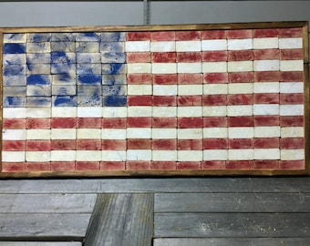 Larged 2x4 Framed Flag