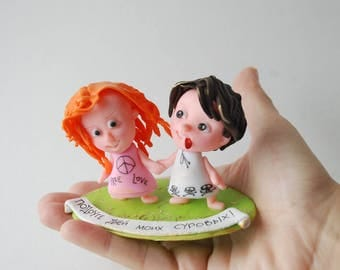 Personalized Doll Personalized Gift Portrait to Order Polymer Clay Professional Gift  Gift for Best Friend Miniatures Dolls Eco-Friendly