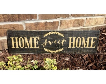 Home Sweet Home Hand-Painted Rustic Pallet Wood Sign