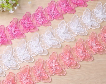 Butterfly Lace Trim Blush Floral Tulle Lace Embroidery Lace Trim,wedding lace,Embroidery Lace Trim,edging lace trim