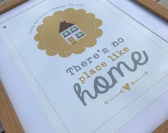 Welsh and English Does unman yn Debyg / No place like home word art A4 print.