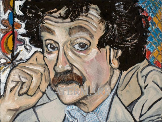 Kurt Vonnegut--9x12 Hand-Numbered Print