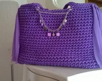 Bag Violet Flowers