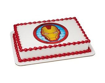 Iron man cake topper Etsy