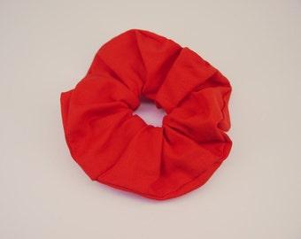 Big Red Scrunchie, Hair Scrunchie, Flame Red Scrunchie, Sassy Scrunchie, Gorgeous Hair Ties, Soft Cotton Scrunchie, Single Scrunchie