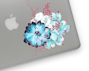 Floral watercolor flowers vintage bouquet laptop sticker MacBook sticker decal vinyl decal