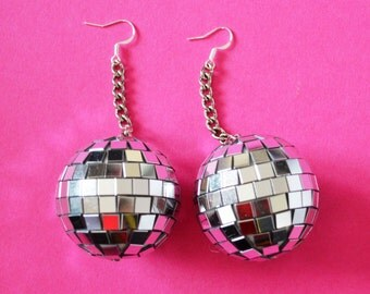 Mirror Ball Dangle Earrings
