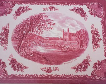 Cork back placemats/Cambridge in 1792/Rose color