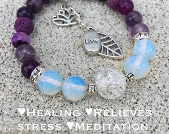 Aromatherapy Crystal Healing Harmony Bracelet