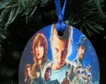 Stranger Things Inspired Christmas Tree Ornament 2 Sided Can be Personalized NEW