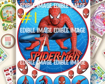 Edible Images Spiderman Cake Topper Ising or Wafer Sheets for spiderman cake design