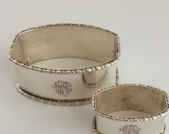 Sterling Napkin Ring set of 2