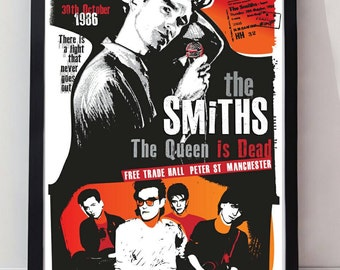 The Smiths reimagined drawn unframed gig poster. Specially created.