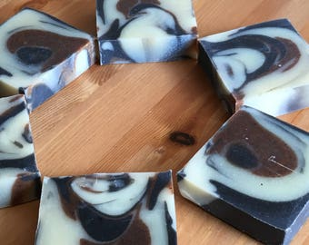 Dirty Chai Cold Process Soap, Handmade, Small batch, Winnipeg, MB, All Natural Soap, Red Clay, Activated Charcoal, Chai, essential oils